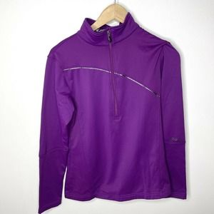 SPYDER Flicker Poly Stretch Zip Pullover Jacket